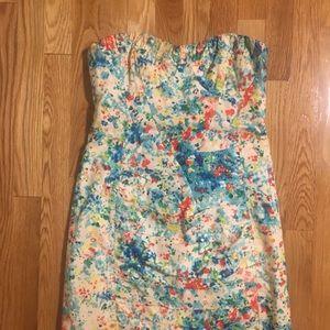Nanette Lepore Honeysuckle Ruched Strapless Dress